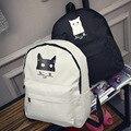 2017 новая мода Harajuku ulzzang кот белый медведь рюкзак женщины опрятный стиль школьный мужчины дорожная сумка