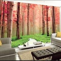Dwa Kolory 3D Foresr Krajobraz Mural Tapety Ścienne Sypialnia Home Decor Klienta Zdjęcie Naturalne, Fototapeta Tapeta Kontakt Papierów