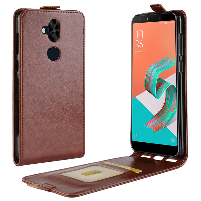 new arrival 296ba 58ebf US $4.74 5% OFF|ZC600KL Case for ASUS ZenFone 5Q ZC600KL Down Open Style  Cases Flip Leather Thick Solid Card Slot Cover Black Covers 600 ASUS600-in  ...