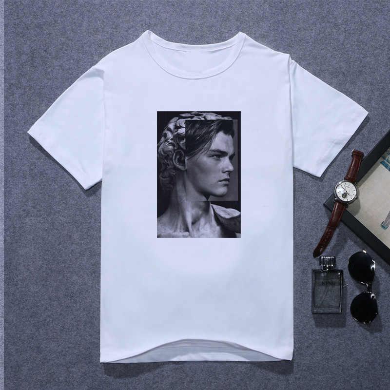 Leonardo DiCaprio T เสื้อผู้ชาย David Titanic 90 svintage เสื้อยืดฤดูร้อนแฟชั่นชายสั้นแขนเสื้อ T เสื้อ