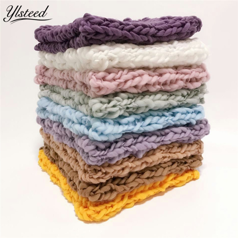 55cm*55cm Newborn Photography Background Props Crochet Wool Blanket Infant Photography Accessories Baby Picture Shoot Props