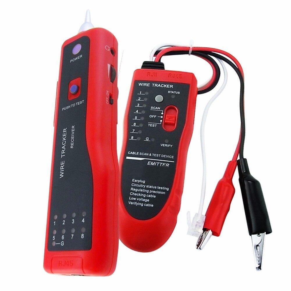 Traceur téléphonique réseau LAN RJ45 BNC testeur de câble Tracker détecteur de fil électrique avec convertisseur RJ45 à BNC et écouteurs