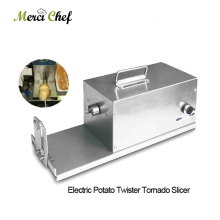 ITOP Electric Potato Tornado Slicer Machine Vegetable Slicer Rotate Potato Slicer Stainless Steel Twisted Potato Slice Cutter цена и фото