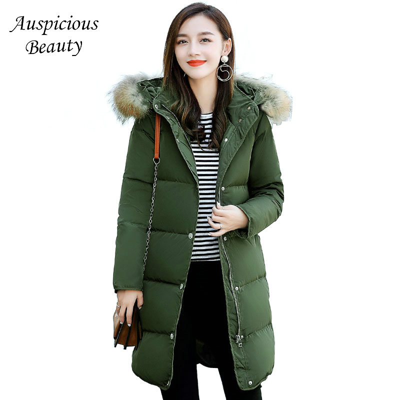 Women New Casual White Duck Down Jacket Autumn Winter Warm Coat Thick Plus Size Jacket Female Waterproof Light Outwear CXM123