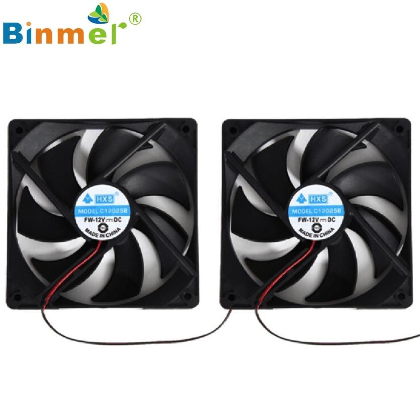 2017 New 2pcs 120mm 120x25mm 12V 4Pin DC Brushless PC Computer Case Cooling Fan 1800PRM JUN8 sunon ac 220v aluminum cooling fan 120 x 120 x 25mm computer