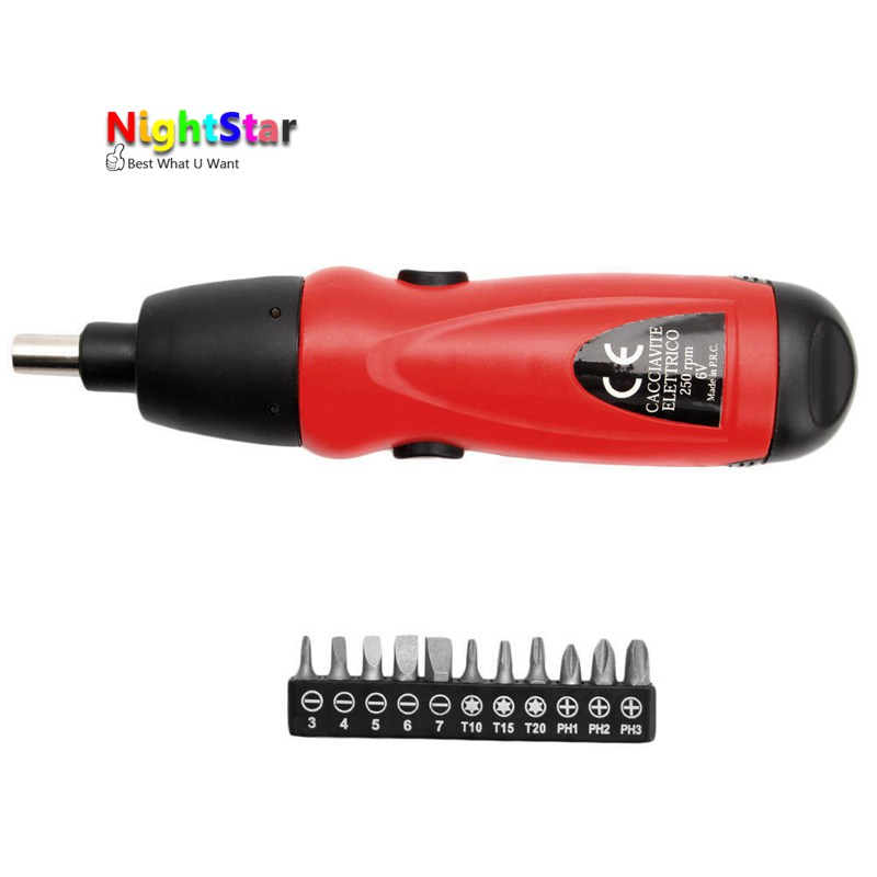 6V Electric Screwdriver Battery Operated Cordless Screwdriver Drill Tool Electric Screwdriver /Random Color