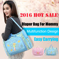 New Trendy Fashion Mother Outdoor Bags Animal Bee/butterfly Prints Stylish Mom Diaper Bag Multi-functional And Large Capacity