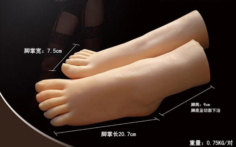 1 Paar Weibliche Füße Socken Silikon Mädchen Fuß Modell Fuß Modell Werkzeug Schuhe Und Socken Fuß Sex Spielzeug Freies Verschiffen