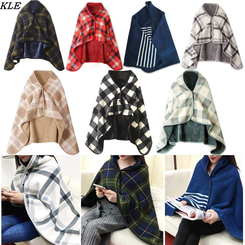 Sunfree Women Lady Multifunction Doublelayer Tartan Plaid Blanket   Scarf     Wrap   Shawl Winter Warm 2019 New   Scarves   3L45