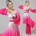 Hanfu Disfraces Китайского Классического Танца Костюмы Yangko Фея Женский Чернила Тонким Поэтическим Hanfu Сценическое Одежда