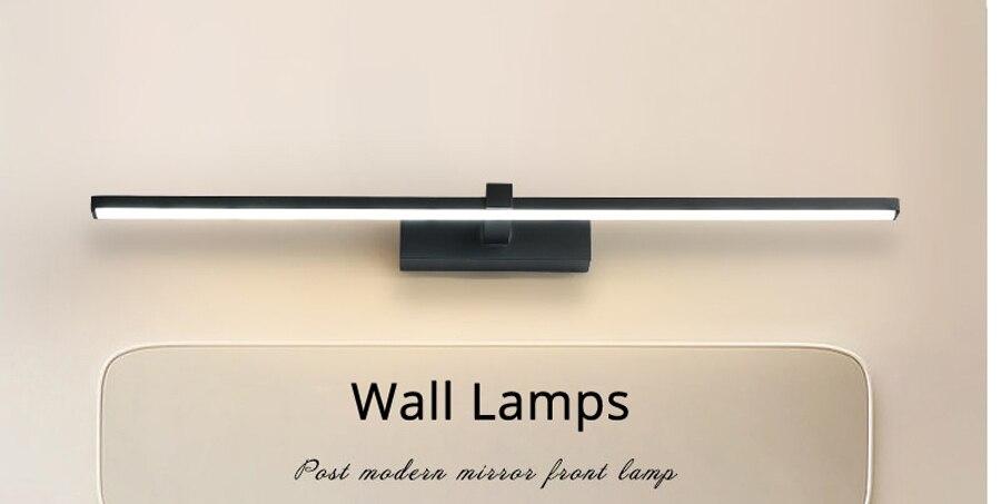 Plafoniere Da Parete Per Bagno : Acquista lampade a led luce specchio bagno bianco nero