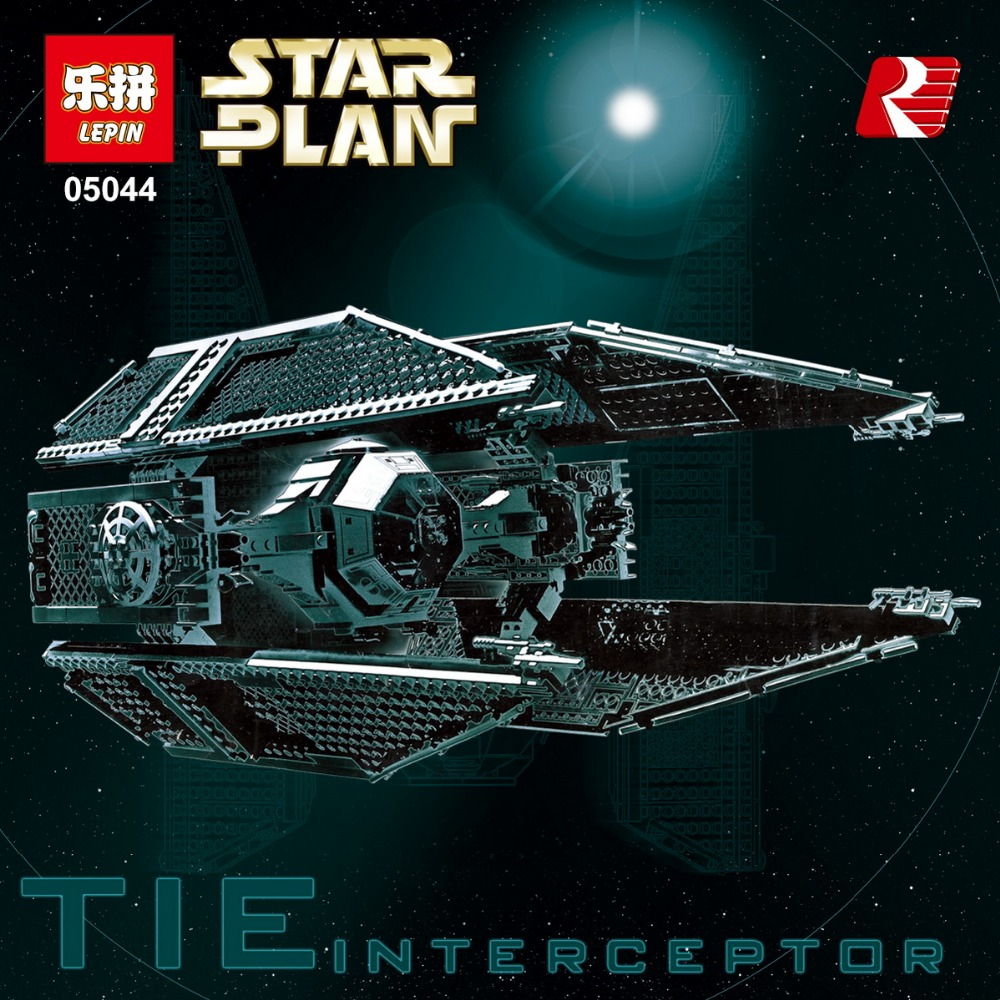 New 703pcs Lepin 05044 Star Series Limited Edition The TIE Interceptor Building Blocks Bricks Model Educational puzzel Toys wars конструктор lepin star plan истребитель tie interceptor 703 дет 05044