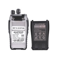 "vhf uhf 100% המקוריים Baofeng UV-B5 שתי דרך רדיו תחנת VHF UHF 5W 99CH Ham Radio FM משדר כף יד מכשיר קשר B5 מקמ""ש (4)"