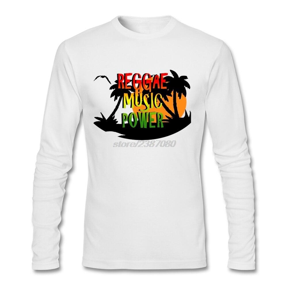 Design t shirt reggae - Designing Man O Neck Movie T Shirts Male Reggae Music Power Sun And Coconut Tree Long