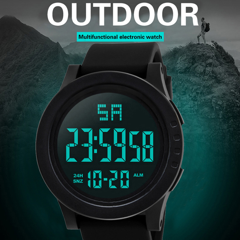 Digital Watch Men Women Relogio Sport LED Waterproof Digital Quartz Fashion Watch Military Sports Men's 2018