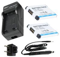 NB 11L Battery 2 Pack Charger For Canon PowerShot A2300 A2400 A2500 A2600 A3400 A3500 IS