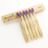 100 pieces children bamboo toothbrushes fast shipping packed by plain boxes