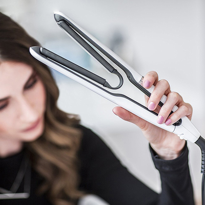 Hair Curler Floating Air Plate and Surface Straightening Dual Purpose Splint 3D Straightner Hair Device Bangs Curler A26