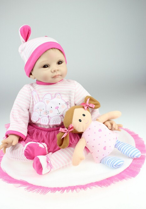 2016 New Product Silicone Reborn Baby Doll Toys Simulation Newbabies Reborn Kids Doll Christmas Brithday New Year Gift To Girls