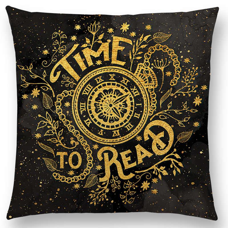 18 Reader Club Sofa Decorative Throw Pillows Reading Sponsorship Book Store Library Chair Cushion Letter Print European Pillows