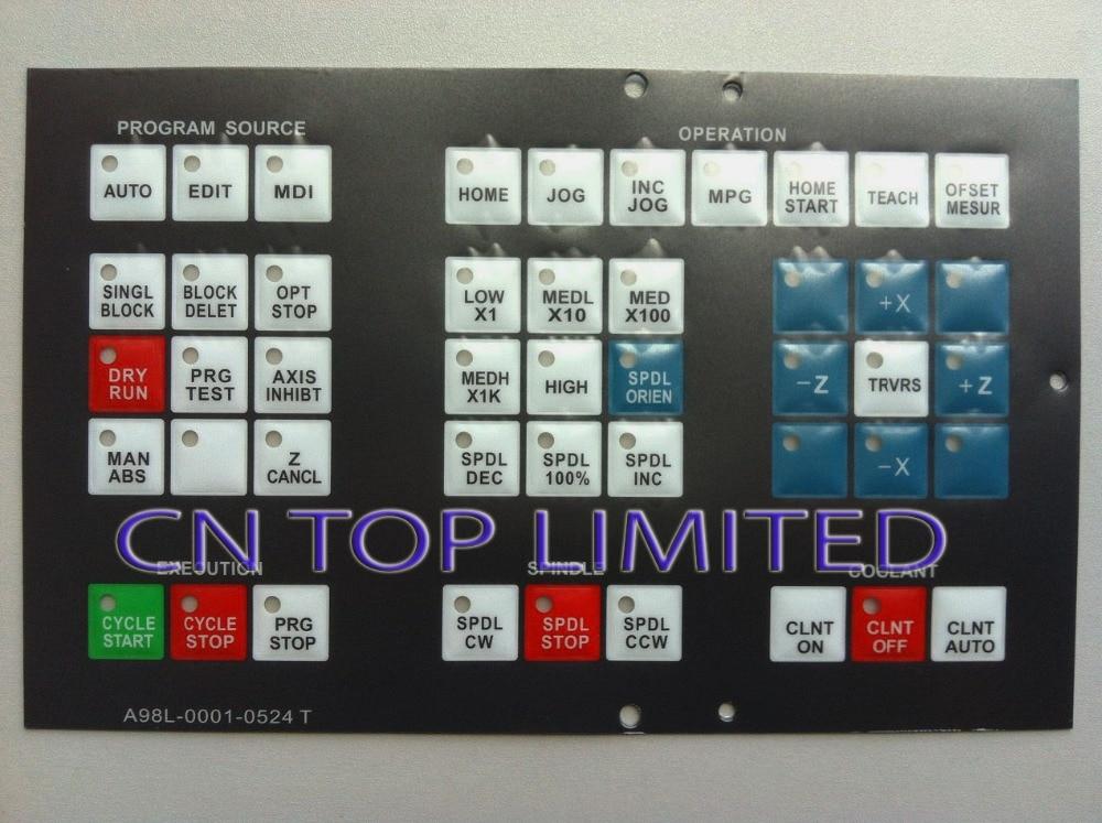 ФОТО New numerical control machine operation panel Keypad Membrane  for FANUC A98L-0001-0524#T