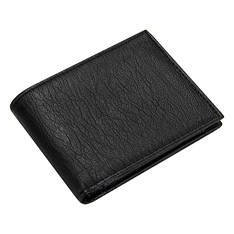 Black Bifold Male Wallet New Brand Pu Leather Men's Short Wallet With Coin Pocket Casual Card Holders For Men Small Coin Purse
