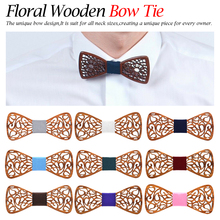 Mens Wooden Bow Tie Accessory wedding party bow tie Christmas Gifts Bamboo Wood  Neck Wear for Men Women cravat