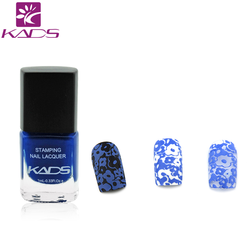 Kads Hot Sale Charm Blue Color Nail Stamp Lacquernail Art Stamping
