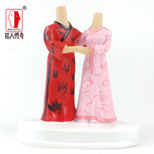 Wedding Cake Topper Personalized Custom real doll custom clay dolls fixed resin body SR204 creative gifts