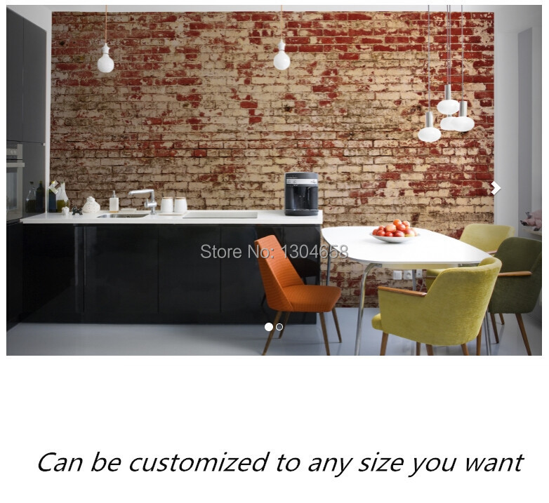 Free shipping custom murals Weathered Red Brick Wall Mural bedroom, living room TV backdrop wallpaper free shipping england wind red white blue fashion backdrop tv backdrop bedroom living room mural wallpaper