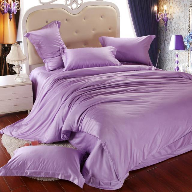 Luxury Light Purple Bedding Set Queen King Size Lilac Duvet Cover Bed In A  Bag Sheet Sheets Linen Quilt Bedsheet Bedroom Bedset In Bedding Sets From  Home ...