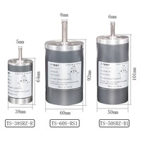 DC Permanenr Magnet Gear Motor 12V 24V 200/3000/4000/5000 Rpm High Speed 38/50/60mm Bemonoc Diameter DC Electric Motor For DIY