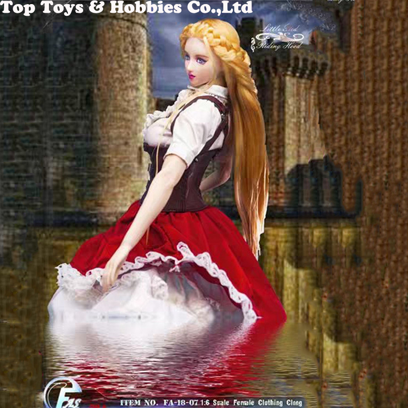 "1//6 Scale Red Cape Model FOR 12/"" Female Little Red Riding Hood Figure Doll TOYS"