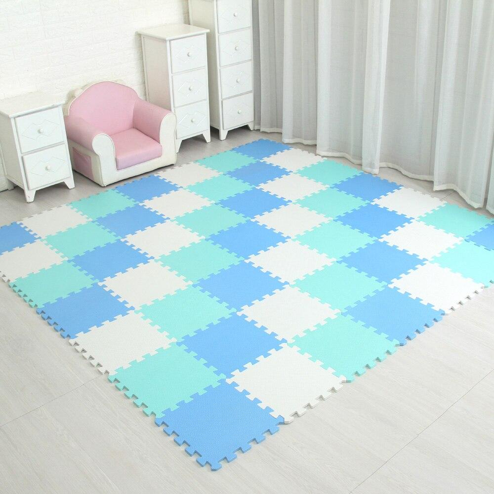 Tapis de jeu pour bébé tapis de Puzzle de couleur unie tapis en mousse EVA tapis de Puzzle pour enfants 30X30X1cm pour les carreaux de sol de protection de l'école de chambre à coucher