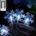 LED Schneefall Lichter Girlande für Weihnachten Baum Fee Lichter Dekoration 8 Einstellungen Fernbedienung Batterie Betrieben Urlaub Lichter-in Festtagsbeleuchtung aus Licht & Beleuchtung bei