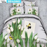 Pure witte lelie spreien koning koningin twin sinlge 3d trooster cover vlinder print meisje volwassen thuis textiel beddengoed set 3/4 stks