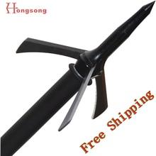 Hot sale!!! 2″ cut bow and crossbow arrowhead ,3blades points,125gr mechanical hunting broadhead