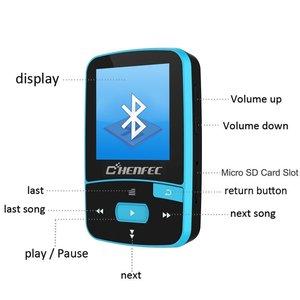 Image 4 - 2020 Sport Clip Bluetooth MP3 Music Player Original ChenFec C50 1.5 Inch Screen With FM Radio, E Book, Clock, Data Free Shipping