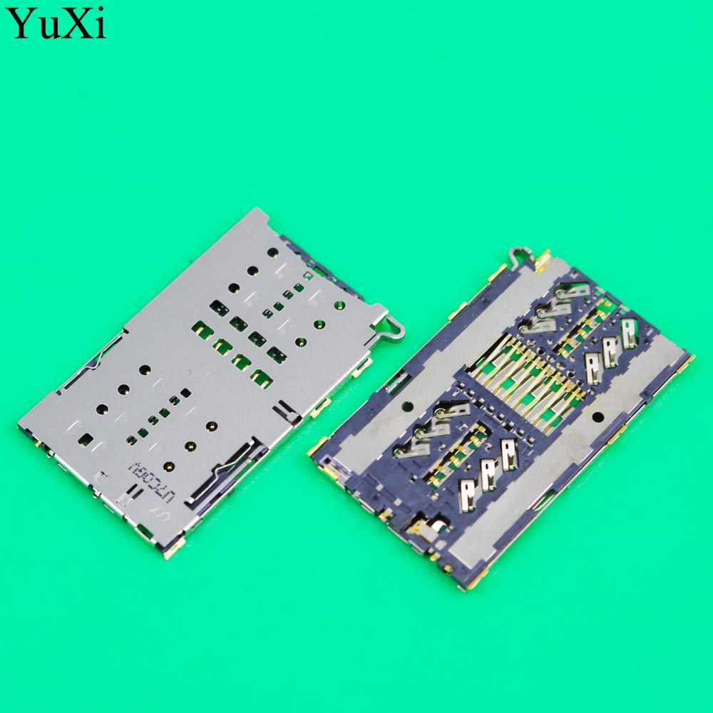 YuXi Sim Kaartlezer connector socket slot module voor Samsung S7 G930A G930F G930 & S7 RAND G935 G9300 G9350 g935F Houder Lade