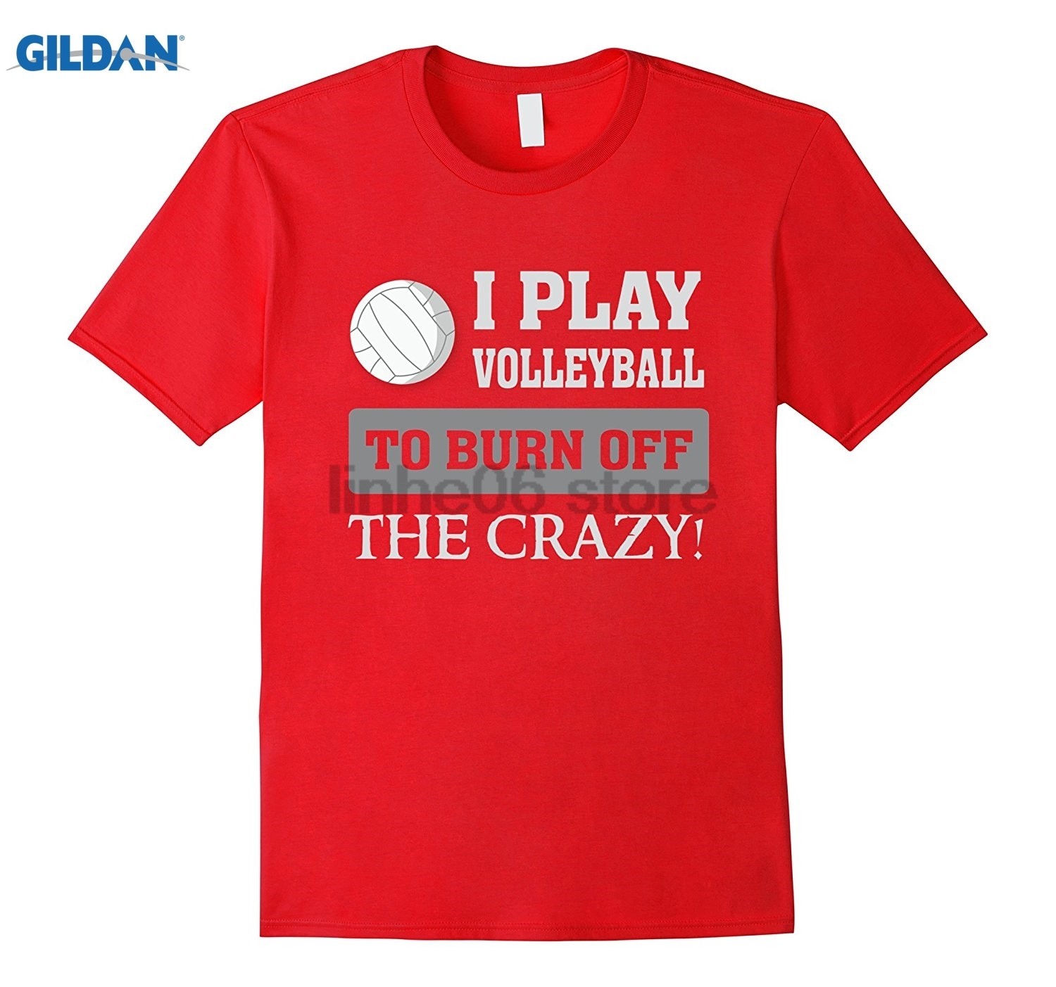 GILDAN I play to burn off the crazy - Funny T Shirt Cotton fashion 2018 trend T-shirt gl ...