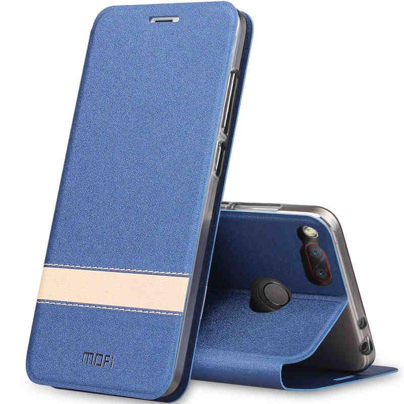 MOFI Elegante Cuoio di Vibrazione Del Basamento di Caso Per ZTE Nubia Z17 Mini Nubia Z17 Mini Fundas Copertura Del Silicone Coque design Originale