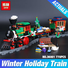 Lepin 36001 770Pcs Creative Series The Christmas Winter Holiday Train Set Children Building Blocks Bricks  Christmas Gifts 10254