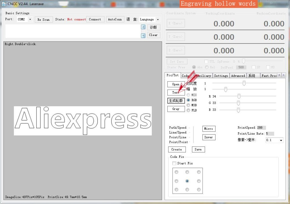 Aliexpress com : Buy 7w laser cutter metal marking machine support english  software work size 1*1m laser engraver mark on metal big work size power