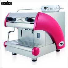 Xeoleo Commercial Espresso Coffee Maker Stainless Steel Semi-Automatic Coffee Machine for Restaurant 220V/2000W/6.6L Pot