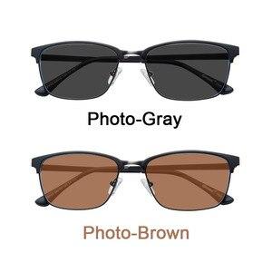 Image 3 - Işık duyarlı fotokromik tek vizyon optik reçete lensler hızlı ve derin kahverengi ve gri renk değiştirme etkisi