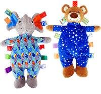 1pc Cloth Night Sleepy Bear Elephant Baby Pacify Rattles Bright Hand Grasp Label Cute Early Development