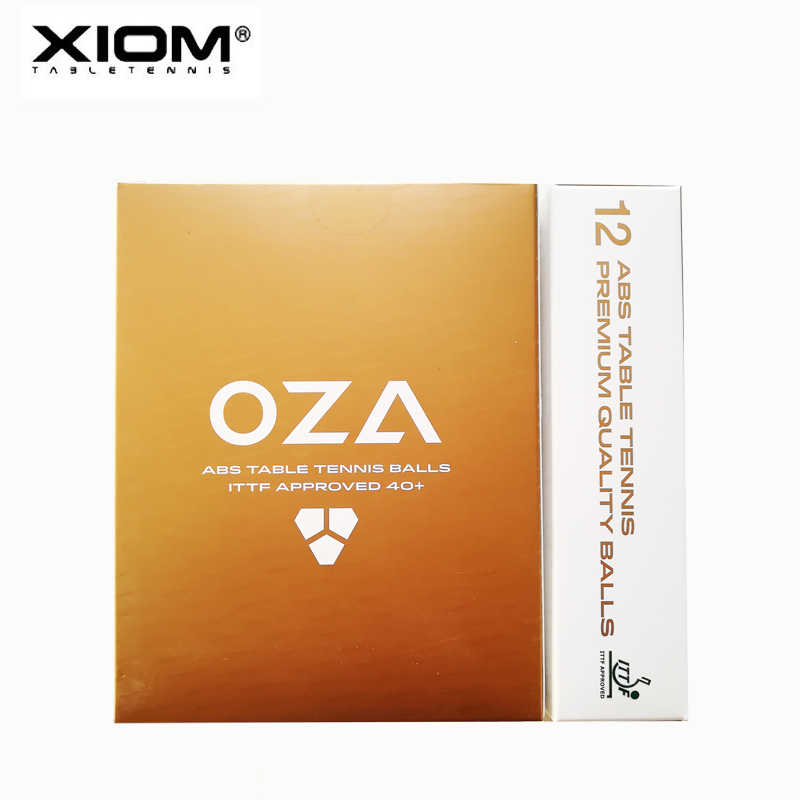 ORIGINAL High Quality  XIOM OZA ABS 3 Star 40+ Seamed  Table Tennis ball / ping pong ball   12pcs/pack