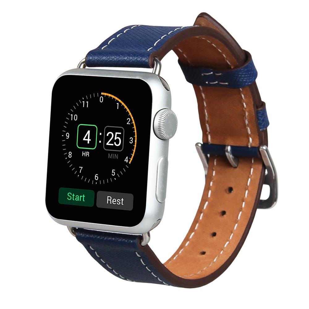 Prix pour V-moro véritable bracelet en cuir unique tour bracelet sangle de remplacement pour apple watch 38mm 42mm