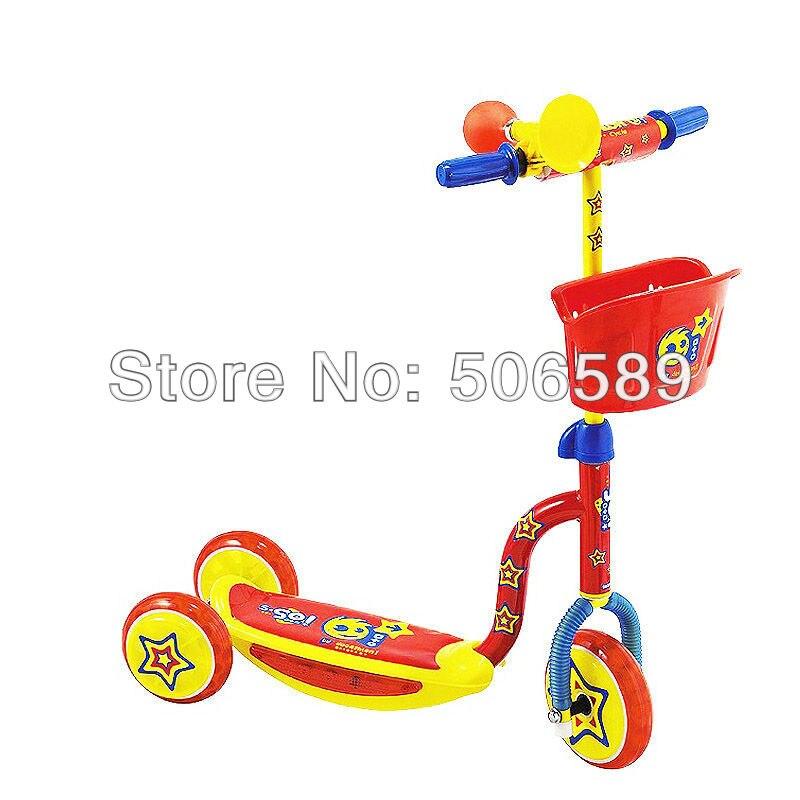 Livraison gratuite trottinette enfant utilisateur âge 3-6 ans 3 roues rose rouge S50