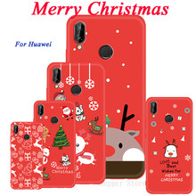 Case For Huawei P20 Lite Pro Mate 20 P10 Lite Nova 3 3e 3i 2i P Smart Plus New Year Cartoon Christmas Santa Capa For Honor 9i(China)